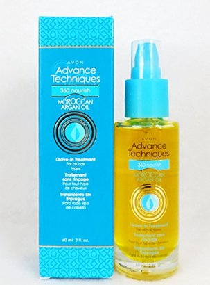 Avon Advance Techniques Moroccan Argan Oil Leave-in Treatment Bottle All Hair Types $8.30 thestylecure.com