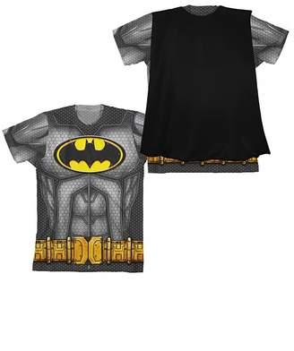 Bioworld DC COMICS Batman Suit Up Youth Boy Sublimated With Cape T-Shirt