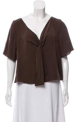 Theory Silk Short Sleeve Top