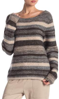 James Perse Tweed Crew Neck Sweater