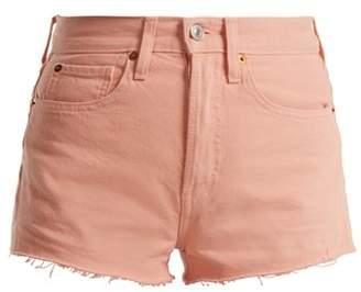 Re/done originals Re/done Originals - The Short Raw Hem Denim Shorts - Womens - Pink