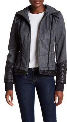 GUESS Quilted Trim Stowable Hood Jacket