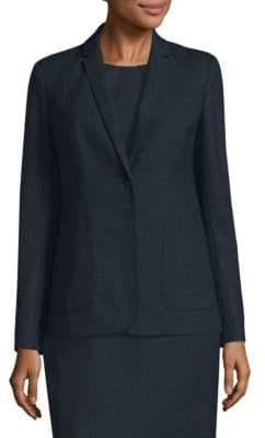 Elie Tahari Wendy One-Button Blazer