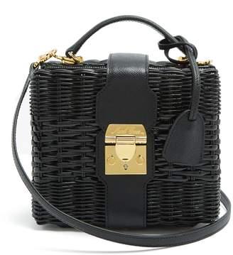 Mark Cross X HVN Harley small wicker basket bag