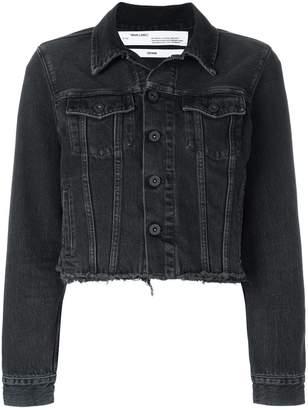 Off-White embroidered detail denim jacket