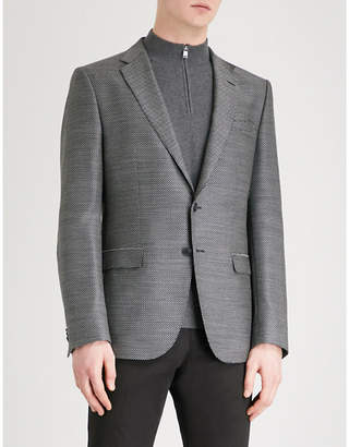 BOSS Slim-fit woven wool jacket