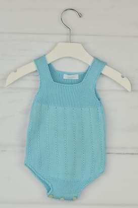 Granlei 1980 Aqua Knitted Onesie