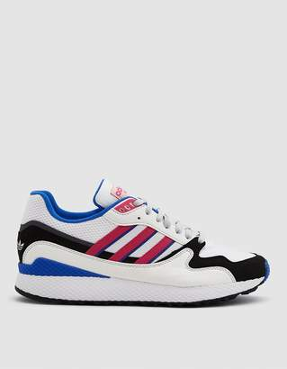 adidas Ultra Tech Sneaker in Crystal White/Shock Pink/Black