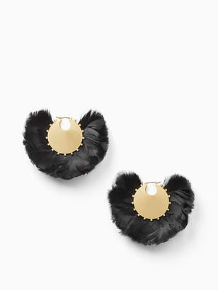 Kate Spade In full feather hoops