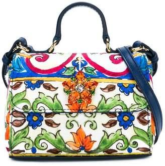 Dolce & Gabbana embellished printed shoulder bag