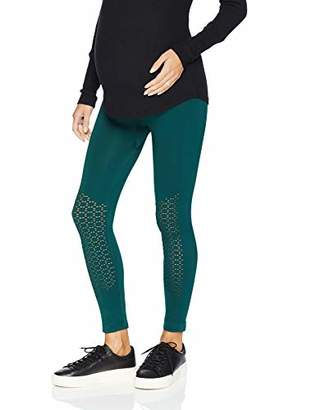 Motherhood Maternity Women's Maternity Seamless Performance Leggings with Mesh Inserts,Small/Medium