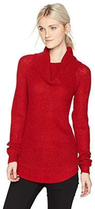 Amy Byer A. Byer Junior's Long Sleeve Cowl Neck Sweater (Junior's)