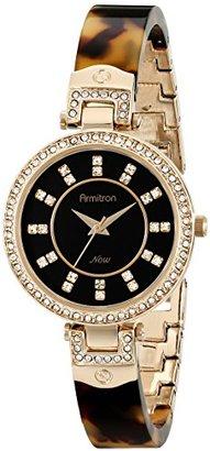 Armitron Women's 75/5276JMGPTO Swarovski Crystal Accented Tortoise Resin Bangle Watch $90 thestylecure.com