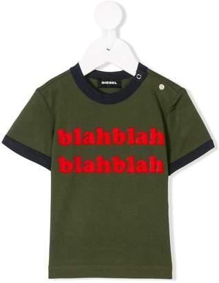 Diesel blahblah print T-shirt