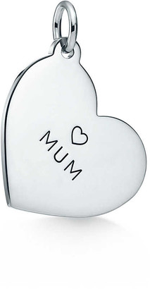 "Tiffany & Co. & Co. Charms ""Mum"" heart tag in sterling silver, medium"