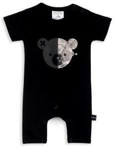 Huxbaby Baby's Robo Bear Short Romper