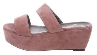 Robert Clergerie Suede Platform Wedges w/ Tags