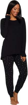 Anybody AnyBody Loungewear Petite Cozy Knit Novelty Print PJ Set