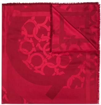 Salvatore Ferragamo Gancini print scarf
