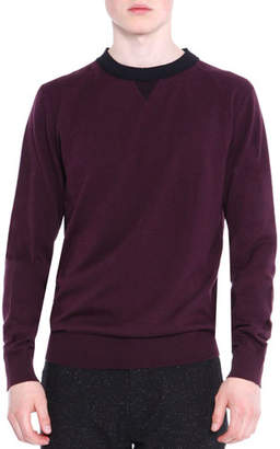 Lanvin Crewneck Knit Sweater, Wine