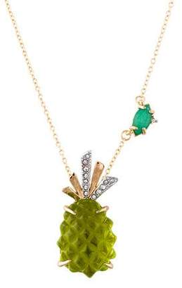 Alexis Bittar Dyed Quartzite & Pineapple Pendant Necklace