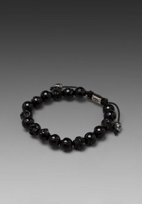 M.Cohen Skull Bead Bracelet
