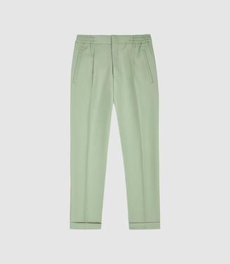 Reiss Rabbit - Pleat Front Trousers in Apple