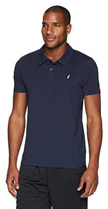Flying Ace Men's Athletic Stretch Jersey Polo with Embroidered Logo