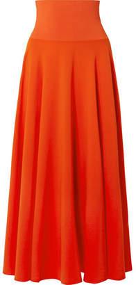 Elizabeth and James Frances Crepe De Chine Maxi Skirt - Tomato red