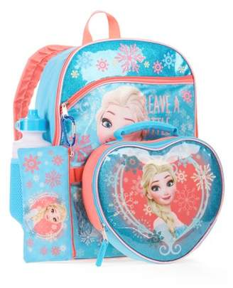 Disney Frozen Elsa 5-Piece Backpack With Lunch Bag