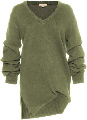 Michael Kors Asymmetric Cashmere V-Neck Sweater