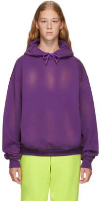 Martine Rose Purple Classic Hoodie