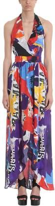 Balmain Multicoloured Silk Flared Dress