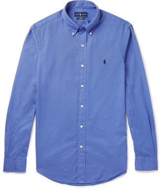 Polo Ralph Lauren Slim-Fit Button-Down Collar Cotton-Poplin Shirt