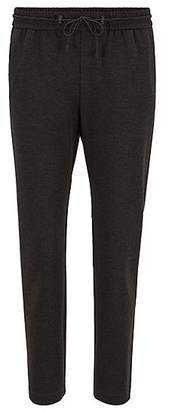 HUGO BOSS Relaxed-fit jogging trousers in stretch jersey