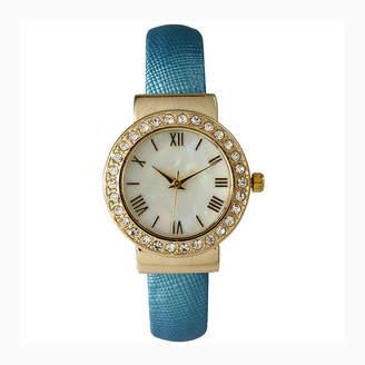 OLIVIA PRATT Olivia Pratt Womens Gold-Tone and Blue Cuff Watch