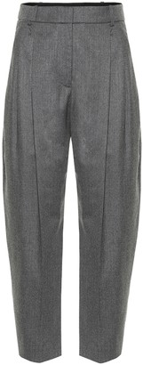 Stella McCartney High-rise carrot-leg wool pants