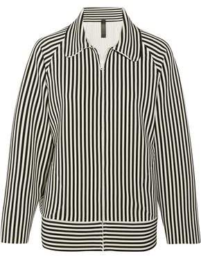Norma Kamali Striped Neoprene Jacket