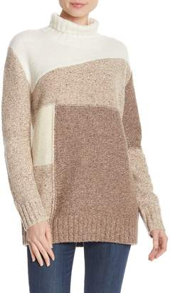 French Connection Anna Patchwork Turtleneck