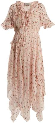 Preen by Thornton Bregazzi Flora Peony-print silk-chiffon dress