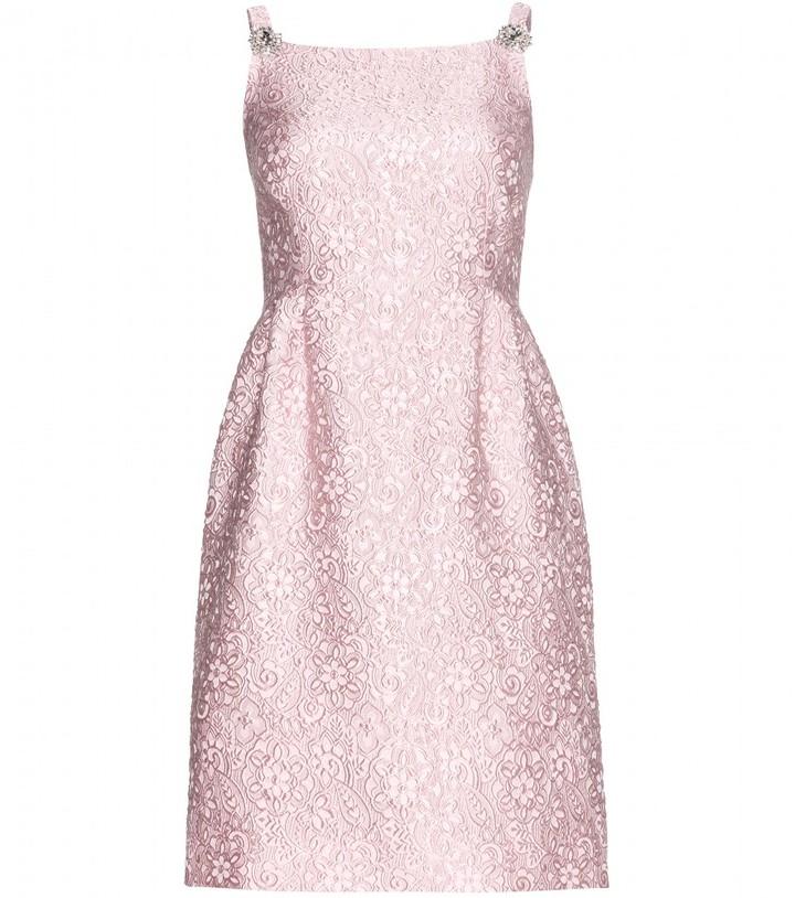 Dolce & Gabbana Crystal-embellished brocade dress