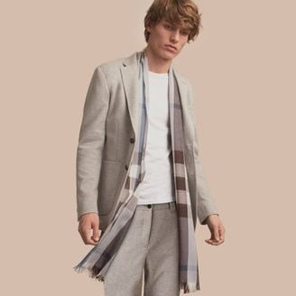 Burberry Slim Fit Herringbone Cotton Blend Jersey Jacket $795 thestylecure.com