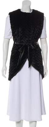 Alice + Olivia Faux Fur Belted Vest
