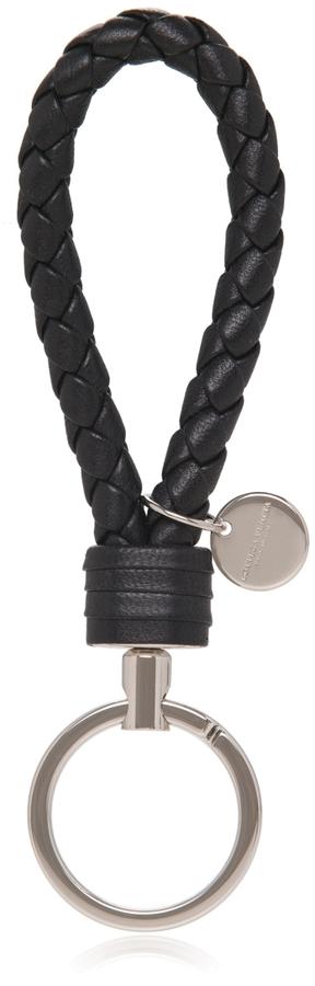 Bottega VenetaIntrecciato Leather Key Ring