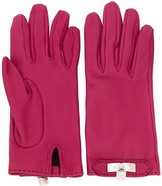 Hermes Pre-Owned Cadena Motif Gloves