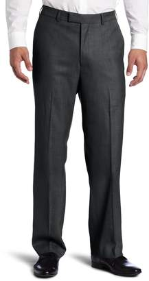 Savane Men's Sharkskin Flat Front Dress Pant