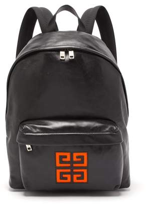 Givenchy 4g Logo Leather Backpack - Mens - Black Orange