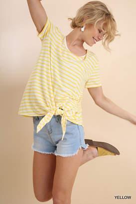 Umgee USA Lemon-Stripes Knot Tee