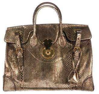 77ff1c3c3cd7 ... order pre owned at therealreal ralph lauren purple label python ricky  bag a1345 2395c ...