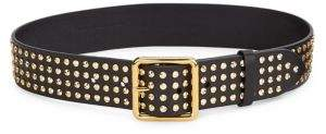 Alexander McQueen Gold Stud Leather Belt